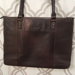 Solo Leather Briefcase Bag